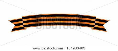 Two-color Ribbon of Order of St. George. For service and bravery. Vector Illustration. EPS10