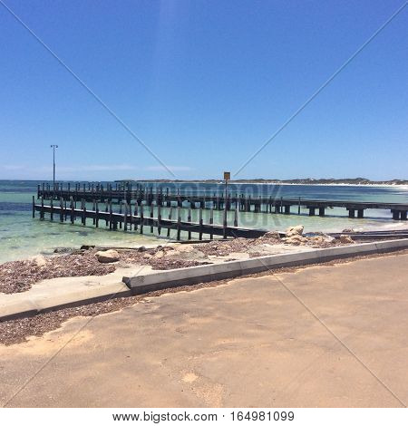 Jetty in Western Australian used for commercial fishing