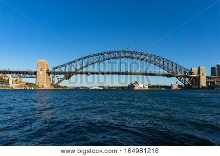 Sydney Harbour With Sydney Harbour Bridge And Sydney Opera House