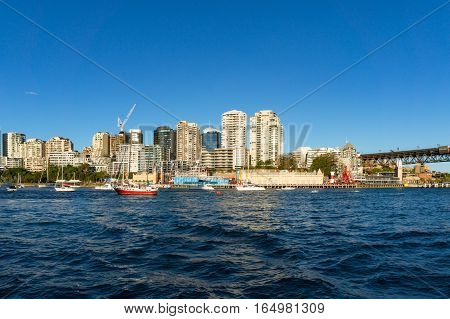 Sydney Cityscape Of Milsons Point And Lavender Bay