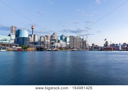 Cityscape At Dusk. Sydney, Australia