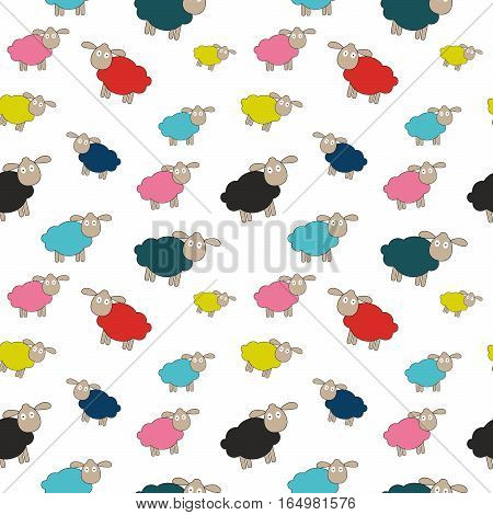 Abstract lamb seamless pattern background vector illustration. EPS10
