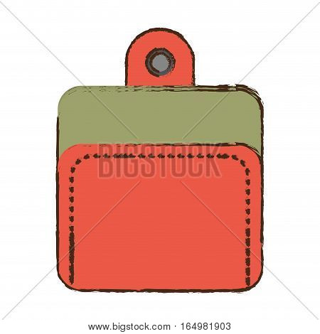cartoon wallet money currency safety vector illustration eps 10