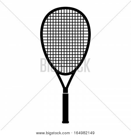 Tennis racquet  ( shade picture )  on white