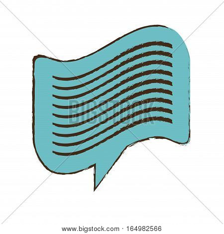 blue bubble speech message dialogue sketch vector illustration eps 10