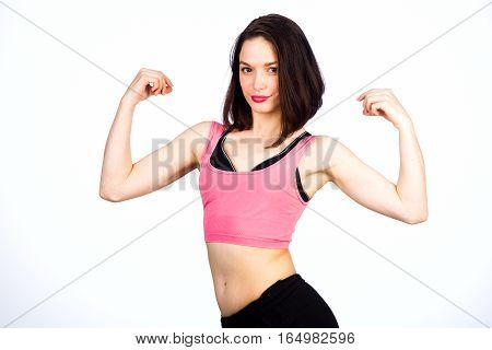 Young Girl In The Sports Form