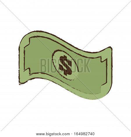 bill money dollar cash icon sketch vector illustration eps 10