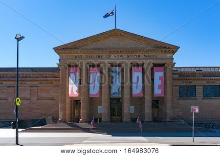 Art Gallery Of Nsw With Exhibition Banners On Facade