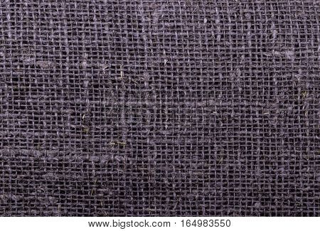 a sackcloth texture background, close up view
