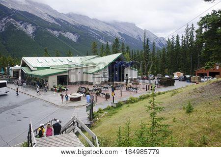 Banff, Canada - September 2, 2016: Banff Sulphur Mountain Gondol