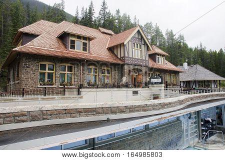 Banff, Canada - September 2, 2016: Banff Upper Hot Springs On 2