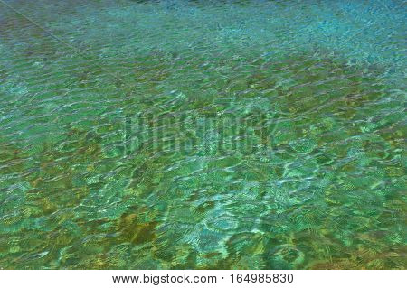 Blue Water Texture, Swimming Pool Surface