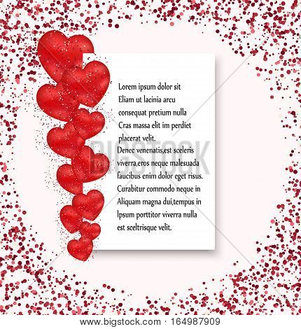 Valentines day sale background heart pattern. Vector illustration. Flyers, invitation, posters, brochure, banners.