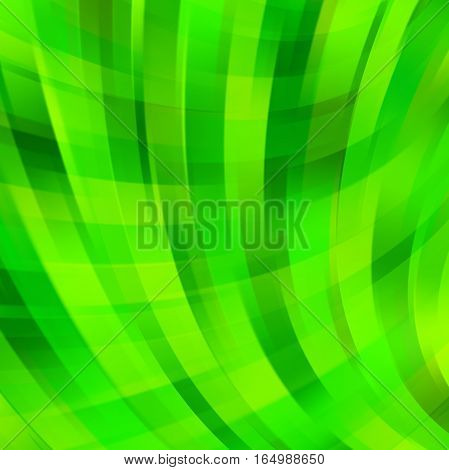 Abstract Green Background With Swirl Waves. Abstract Background Design. Eps 10 Vector Illustration