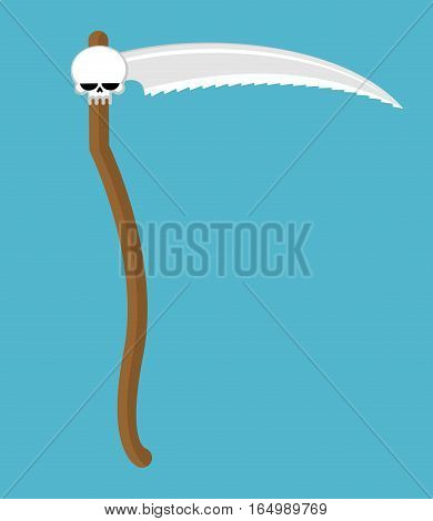Scythe Death Isolated. Blade Grim Reaper. Legendary Immortal Weapon. Take Away Souls People