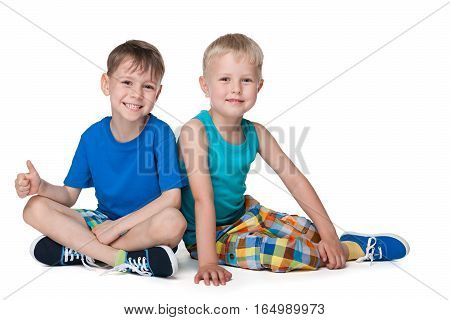 Smiling Little Boys Together