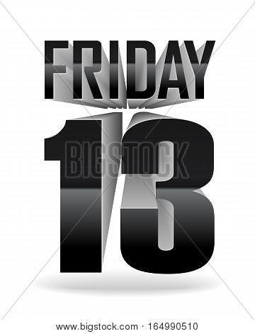 Friday 13. Vector Inscription
