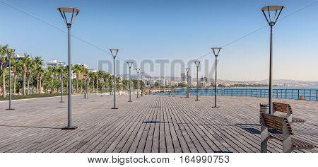 Boardwalk at Molos (promenade) in Limassol Cyprus
