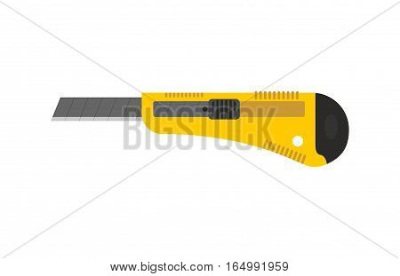 Stationery Knife Isolated. Office Paper Cutter On White Background