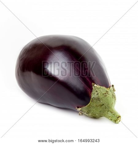 Eggplant / aubergine vegetable isolated on white background cutout