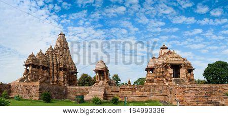Devi Jagdambi Temple dedicated to Parvati and Kandariya Mahadeva Temple dedicated to Shiva Western Temples of Khajuraho. Unesco World Heritage Site. Popular amongst tourists all over the world.