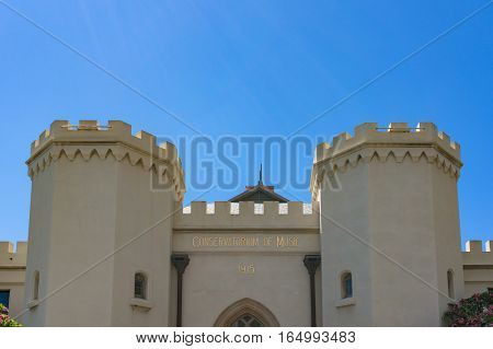 Building Of Sydney Conservatorium Of Music Against Blue Sky On The Background
