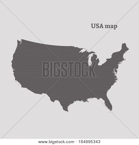 Outline map of USA. Isolated vector illustration.