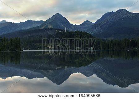 View from Strbske pleso in the High Tatras.