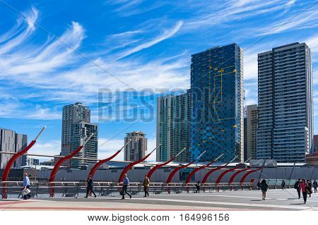 Southern Cross Railway Station And Melbourne Cityscape