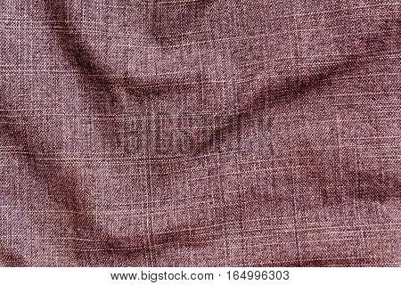 Brown Color Denim Textile Cloth Surface.