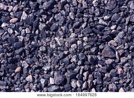 Pile Of Blue Toned Gravel Stones.