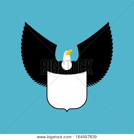 Bald Eagle And Shield. Big Strong Bird Emblem