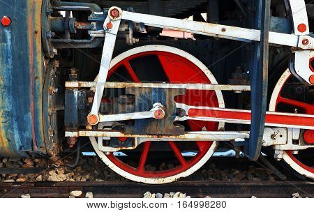 Old Retro Steam Locomotive