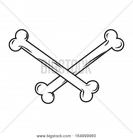 Crossbones Isolated. Bones On White Background. Part Of Skeleton