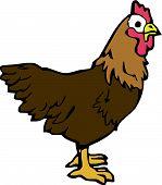 Scalable vectorial image representing a chicken bird poster