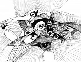 Structure Abstract Drawing