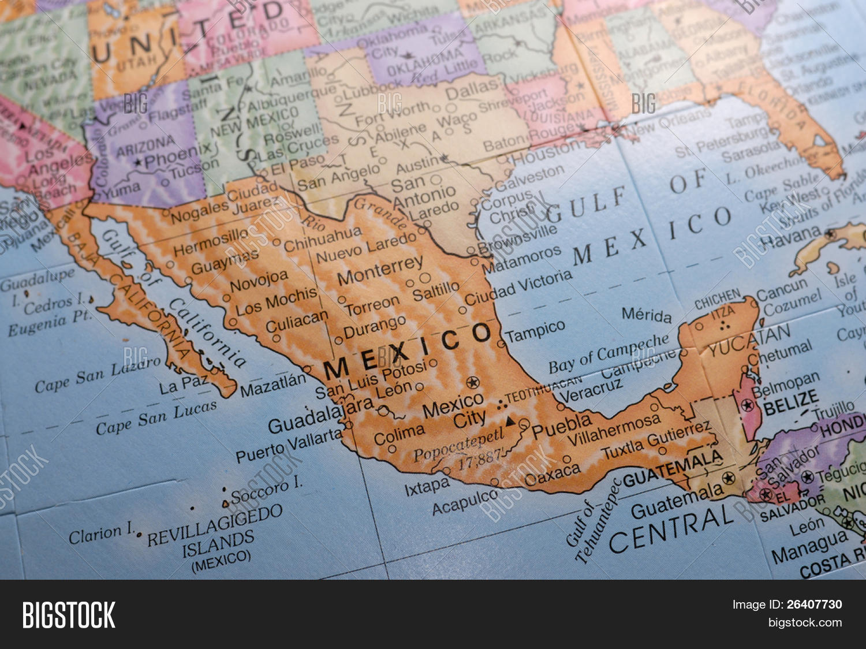 Macro Globe Map Detail 19 Mexico Macro