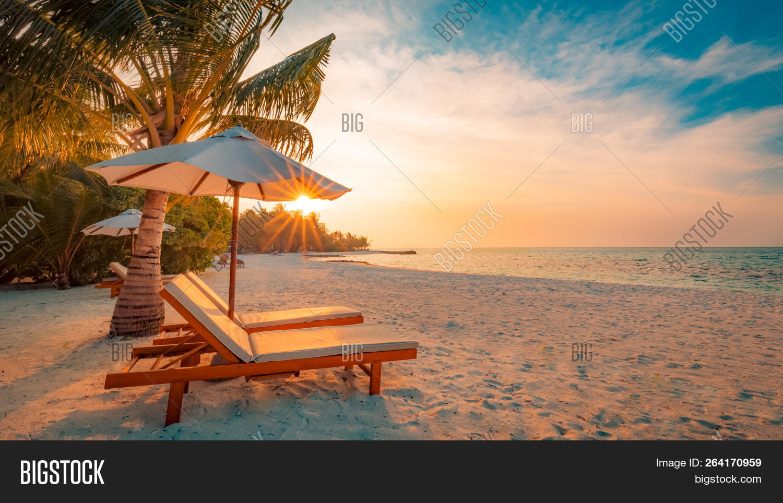 Perfect Beach Scene Image Photo