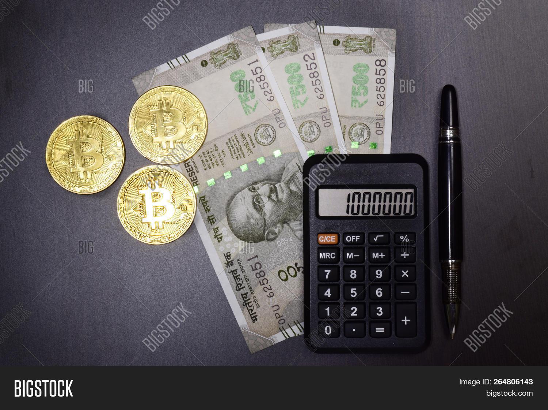Bitcoin Indian Money Image Photo