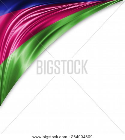 Kuban Peoples Republic Flag Of Silk With Copyspace For Your Text Or Images And White Background
