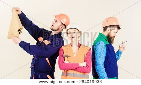 Inspector disappointed about employee, builder. Builder, architect, repairer poster