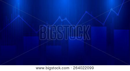 Stock Market Graph .business Candle Stick Graph Chart Of Stock Market Investment Trading On Dark Bac