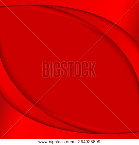 Abstract Background With Red Curved Lines On A Red Background Element Design Banners Posters Templat