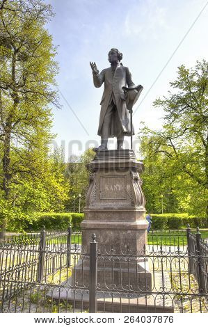 Kaliningrad, Russia - April 30.2018: Monument To The Famous Philosopher, The Founder Of German Class