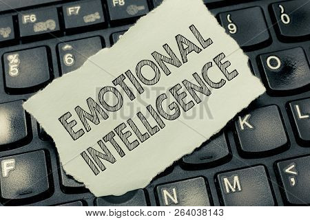 Conceptual Hand Writing Showing Emotional Intelligence. Business Photo Text Self And Social Awarenes