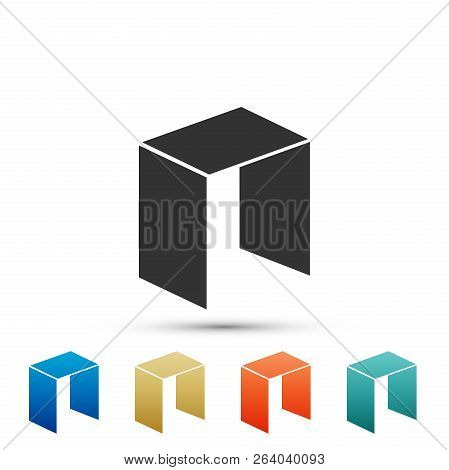 Cryptocurrency Coin Neo Icon Isolated On White Background. Physical Bit Coin. Digital Currency. Altc