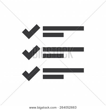 List Vector Icon On White Background. List Icon In Modern Design Style. List Vector Icon Popular And