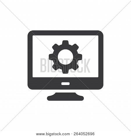 Monitor Vector Icon On White Background. Monitor Icon In Modern Design Style. Monitor Vector Icon Po