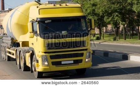 Yellow Concrete Truck Of My Vehicles Series