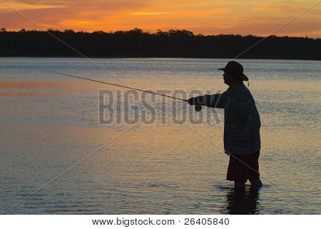 Fly fishing in the morning sun 02